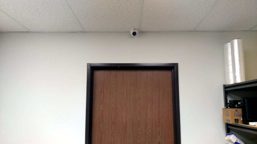 Hikvision Security camera in commercial office